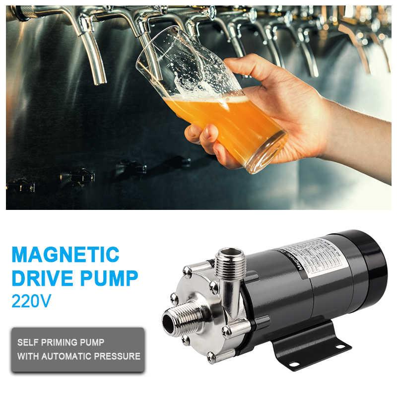 مضخة البيرة MP-15R الغذاء الصف 304 الفولاذ المقاوم للصدأ تخمير 110 فولت/220 فولت المغناطيسي مضخة المياه درجة الحرارة الاتحاد الأوروبي/الولايات المتحدة/الاتحاد الافريقي التوصيل