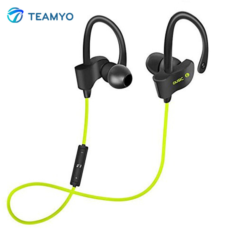 Teamyo S4 Bluetooth Earphone Ear Hook Wireless Stereo earphones Sweatproof Active Noise Cancelling Headset With Mic auricular new bluetooth mini bh320 earphones universal noise cancelling bluetooth headset with ear hook for samsung all blutooth phones