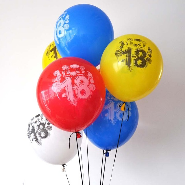 12pcs Number 18 Years Old Girl Boy Latex Balloons Birthday Party Anniversary Decoration Supplies 28