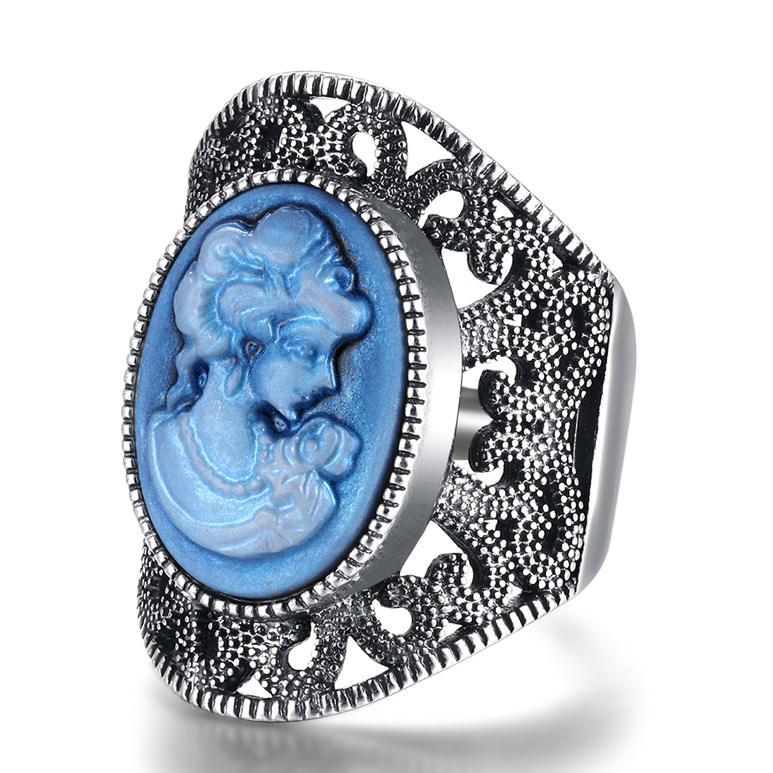 Vintage Silver Beauty Rings For Women Fashion Jewelry