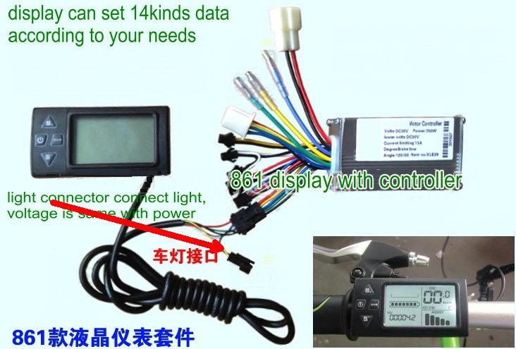 861 display and controller