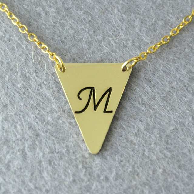 Personalized initials necklace triangle necklace custom initials personalized initials necklace triangle necklace custom initials jewelry letter necklace custom jewelry aloadofball Image collections