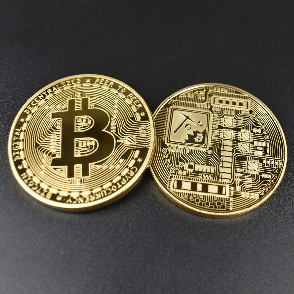 Framed Gold & Silver Plated Bitcoin/Litecoin/Ripple/Ethereum 5