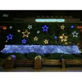 Luces Navidad EU Plug 2M X 2M Net Fairy Light Xmas Party Wedding 144 LED Decoration Colorful Blue White Led Christmas Lights 10S