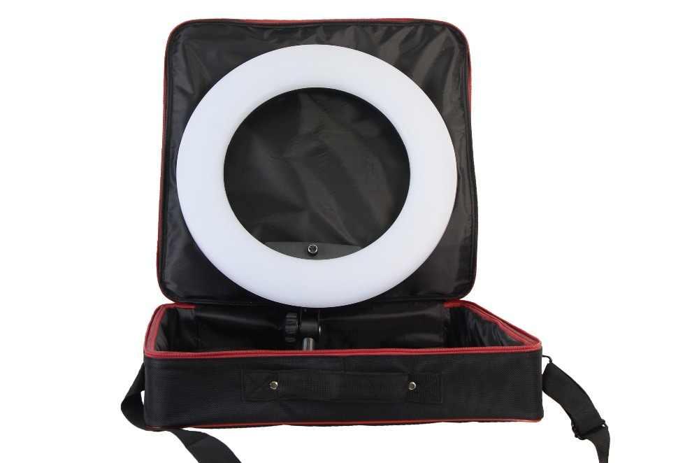 Yidoblo FS-480II branco photo studio led luz anel regulável + saco portátil iluminação fotográfica 3200-5500 k 480led luzes cd50y