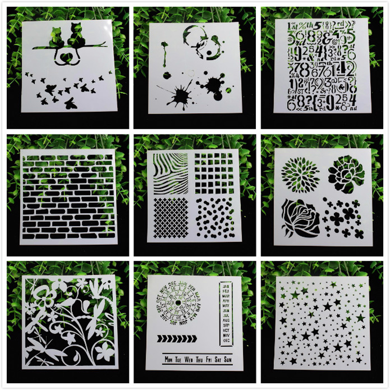 1 Sheet Layering Stencils for DIY Scrapbooking/photo album Decorative Embossing DIY Paper Cards Crafts 100pcs white cardboard paper blank cards handmade post card diy cards paper crafts scrapbooking free shipping 60mm 026011013