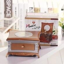 Hot sale Creative Dresser rotating eight music box children 's vanity mirror jewelry box music box