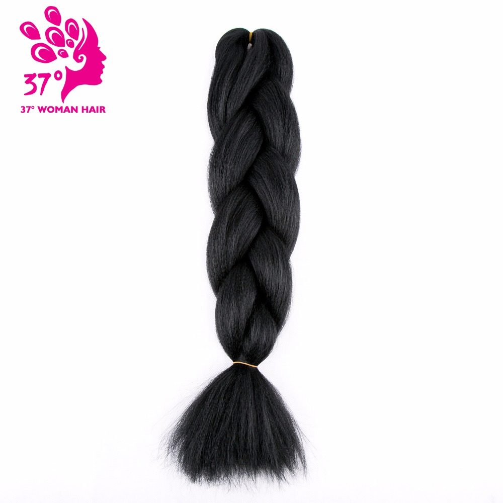 Dream Ice's Black Jumbo Braids Hair Synthetic  Ombre Braiding Hair Extension 5piece/lot Crochet Expression