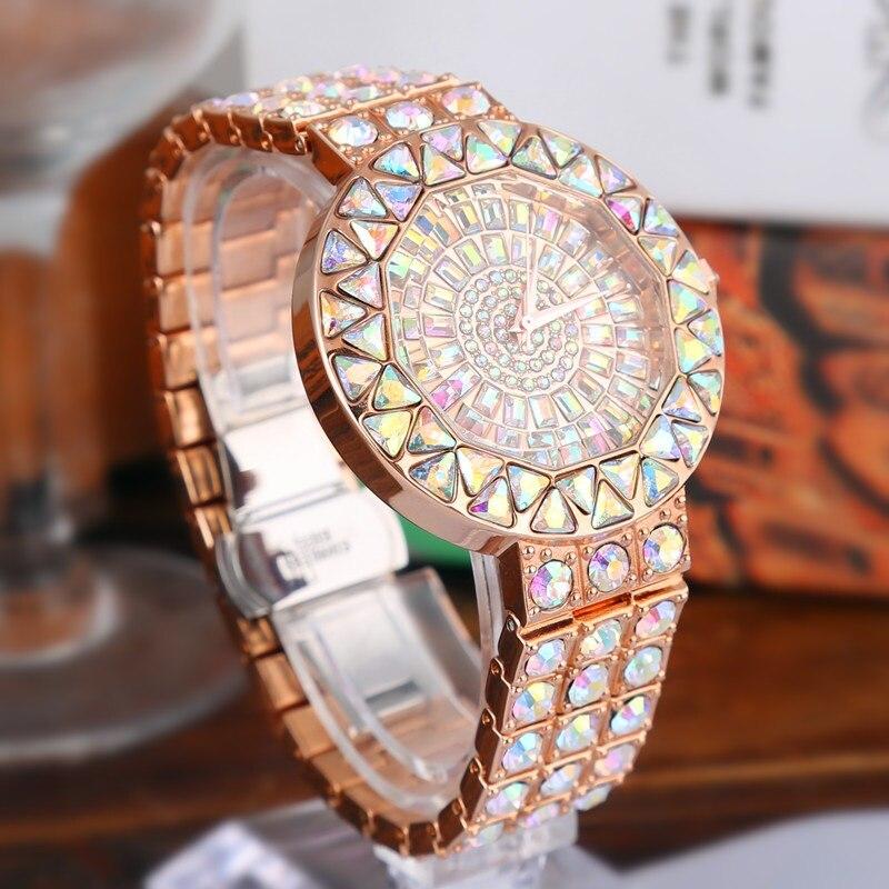 2019 nouvelles femmes strass montres femmes montre diamant de luxe marque en acier inoxydable montre-bracelet dames cristal Quartz horloges2019 nouvelles femmes strass montres femmes montre diamant de luxe marque en acier inoxydable montre-bracelet dames cristal Quartz horloges