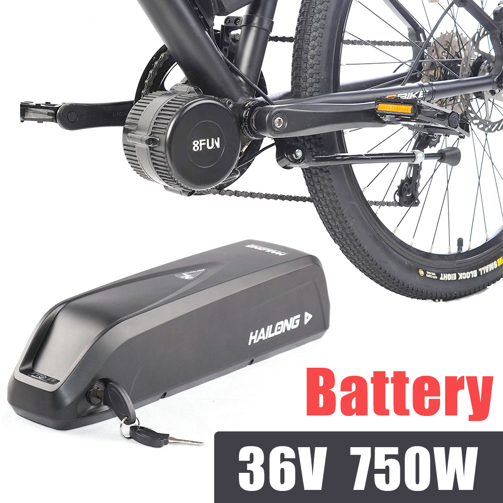 bafang kits electric bike 36V 13AH battery bbs02b 750W Hailong battery pack drawer type electric scooter battery pack 36v 1000w li ion battery pack 36v 30ah electric bike battery fit bafang bbs02 motor