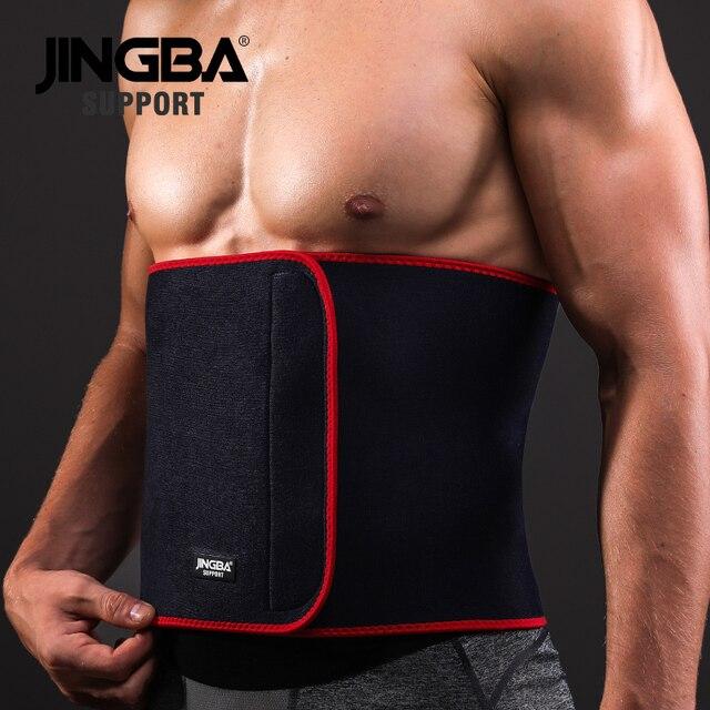 JINGBA SUPPORT Fitness belt waist support Mens Sweat belt waist trainer Women waist trimmer Weight Loss slimming belt neoprene 2