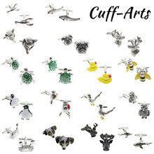 Cufflinks for Men Animal Owl Shirt Cufflinks Luxury Brass Wedding Cuff Links Fashion Gifts 1 Pair Jewelry PT0026 стоимость