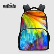 Dispalang красочные Шаблоны ноутбук рюкзак для Колледж школьников сумка Bookbags для подростков Обувь для девочек Mochilas Для женщин рюкзак
