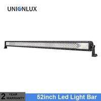 711W LED Work Light Bar 52inch 12V Spot Flood Chips Offroad 4x4 Fog Light Driving Light Lamp For Truck Boat Pack 24V