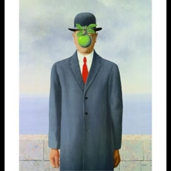 Son of Man Laminated & Framed Poster by Rene Magritte (24 x 36)