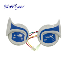 MoFlyeer Motorcycle Vehicle Rv 12 Volt New Loud Horn Car Truck Air Snail Digital Electric Siren 18 Sounds