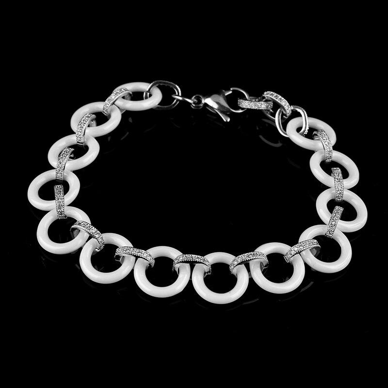 2017 Νέο γυναικείο βραχιόλι Λευκό Bling - Κοσμήματα μόδας - Φωτογραφία 2