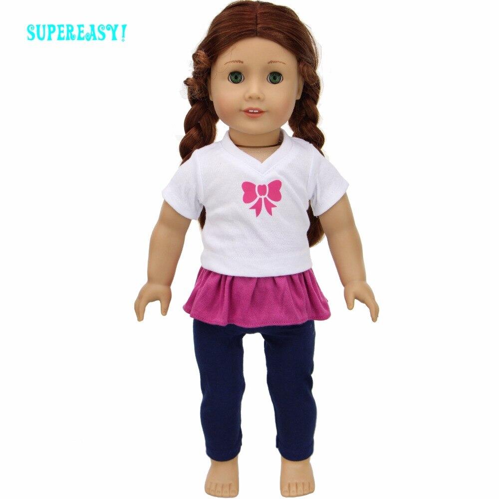 Bonecas calças calças roupas para boneca Tipo : Acessórios