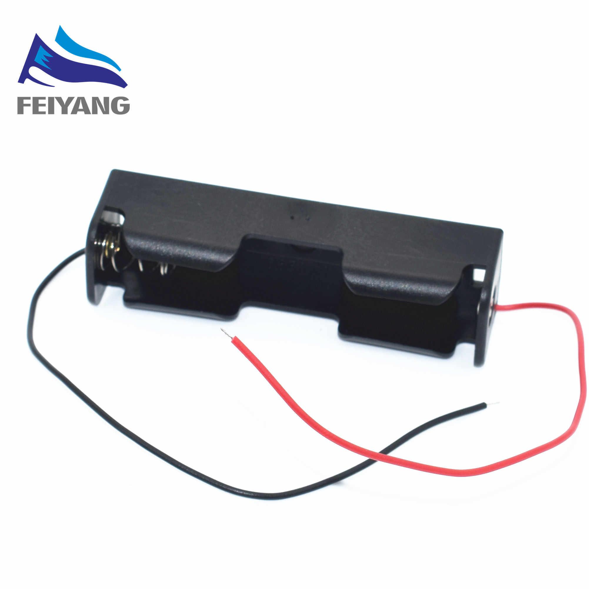 Nouveau 5 pièces 18650 boîtier de boîte de support de batterie noir avec fil de plomb 3.7V Clip de haute qualité