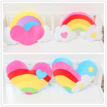 New love rainbow clouds heart-shaped couples plush cushions pillow Valentine's day gifts