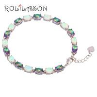 Preciosa Mystic ZIRCON blanco OPAL plata estampada Navidad regalos pulseras precio al por mayor mujeres moda joyería ob063