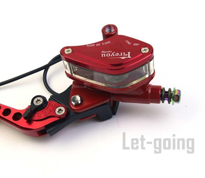 Ligne de tambour rouge câble levier d'embrayage frein maître-cylindre moto universelle 22mm Scooter rue saleté vélo Pitbike MSX125 Z125