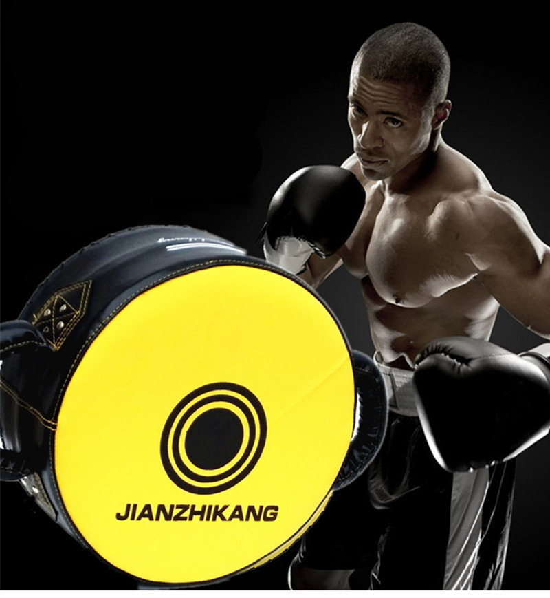 PU De Boxe Bouclier Cible Grand Sanda Ronde de Violents Combats Formation Poitrine Protection Cible Taekwondo Pied Poinçonnage Accent Courbe Tampons