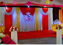 Customized Wedding Backdrop  Wedding Drape Swag  Including Curtain Wedding Party Decoration 3M*6M (10FT*20FT)