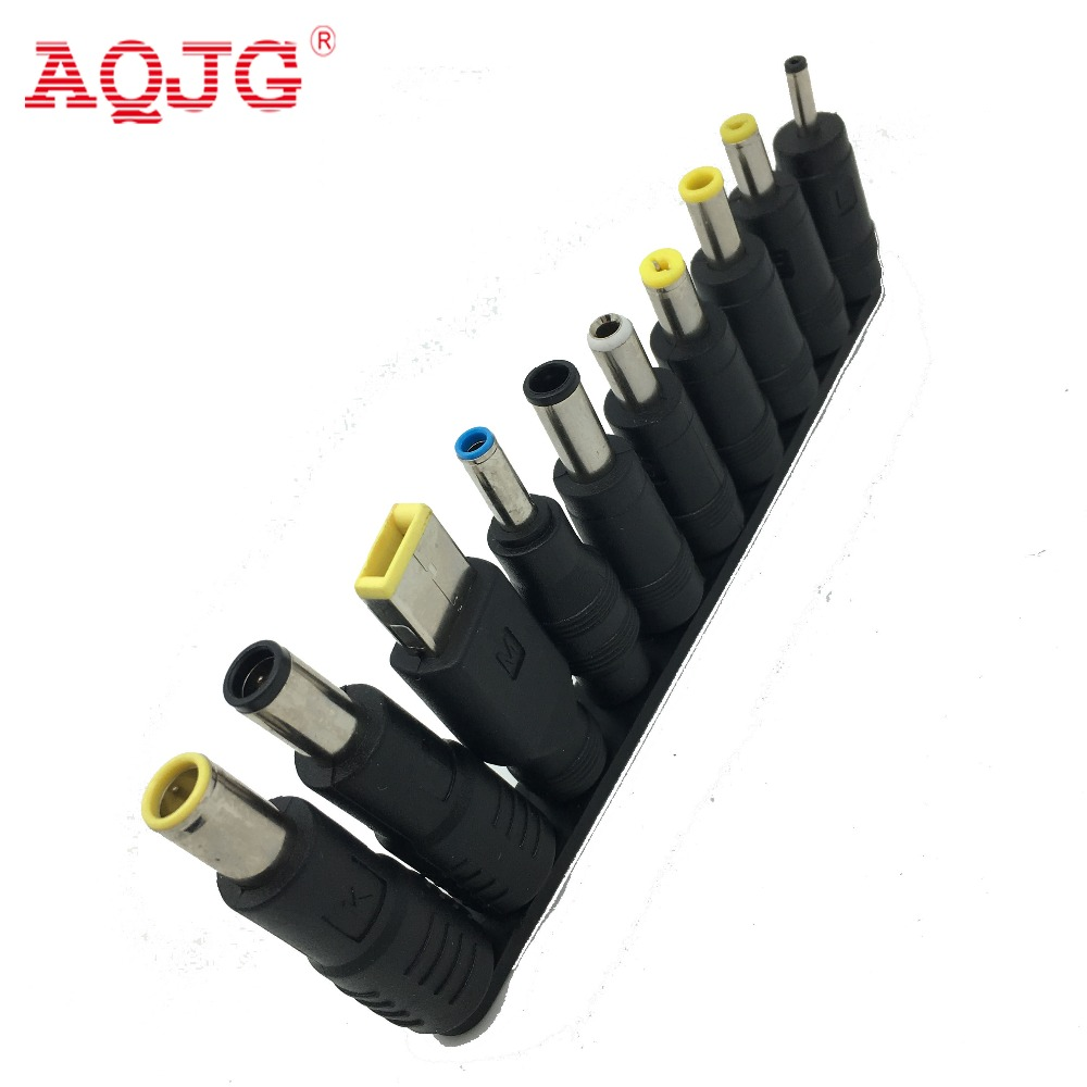 New 10pcs/Set 5.5x2.1mm Multi-type Male Jack for DC Plugs for AC Power Adapter Computer Cables Connectors for Notebook Laptop 2pcs set new type 100