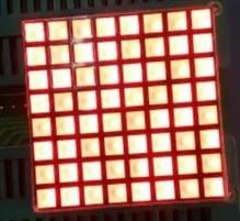50PCS X 3MM 8X8 Blue Red White 32*32 Square LED Dot Matrix Digital Tube 1288BB 1288BS 1288BW LED Display Module