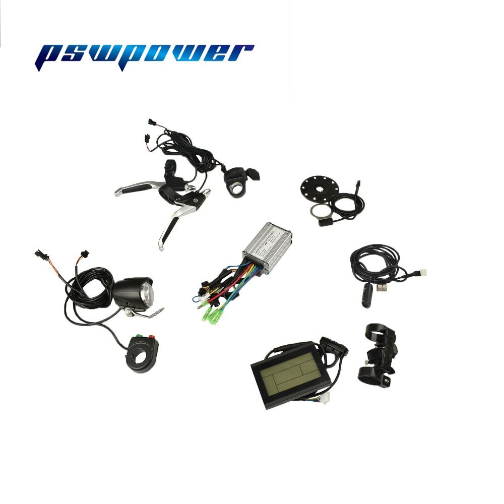 24V/36V 250W  12A  Brushless DC Square  Wave  Controller+LCD or LED+Throttle+Brake Lever+PAS + Speed Sensor+light speaker+switch-in Electric Bicycle Accessories from Sports & Entertainment    1
