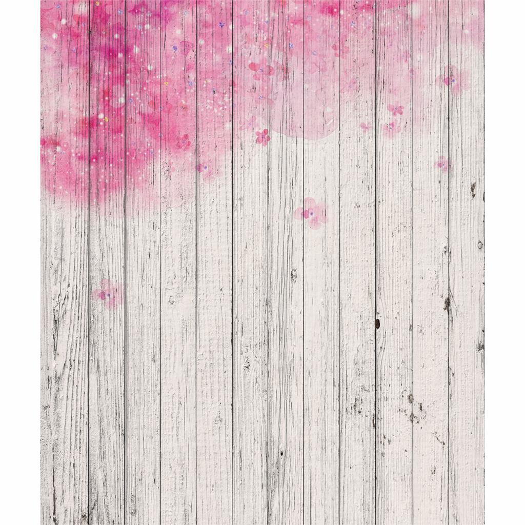 Allenjoy Christmas Background Pink Flower Cute Wood Wall Children