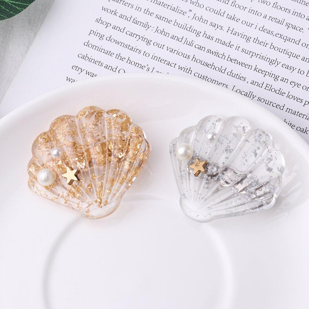 HOOH Women Hair Accessories Shell Claw Shiny Acrylic Hair Claws Hair Bands Crab Hairpin Hair Clips For Girls Women Ornaments