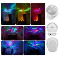 Portable Ocean Wave Music Projector LED Light Soothing Wave Ceiling Lamp With Speaker Holiday Lighting