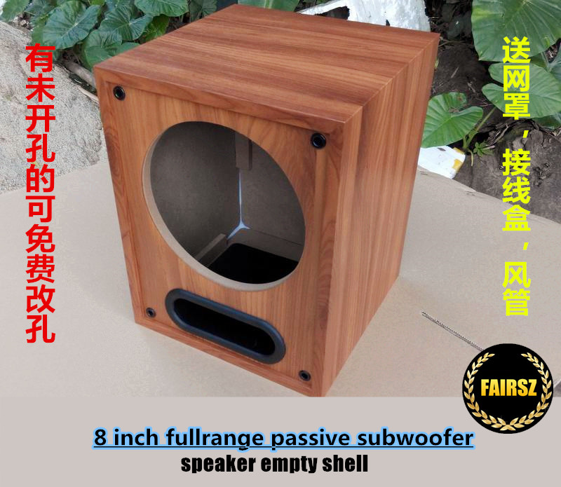 9pcs/lot 9 inch fullrange empty speaker box passive wooden subwoofer shell  automobile audio DIY