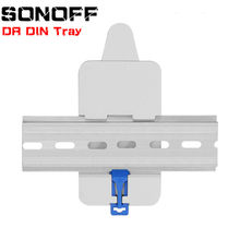 SONOFF For Basic/RF/ Pow/ TH10/16/ Dual Wifi Smart Switch DR DIN Tray Rail Case Holder Mounted Adjustable Box Cover Home Alexa(China)