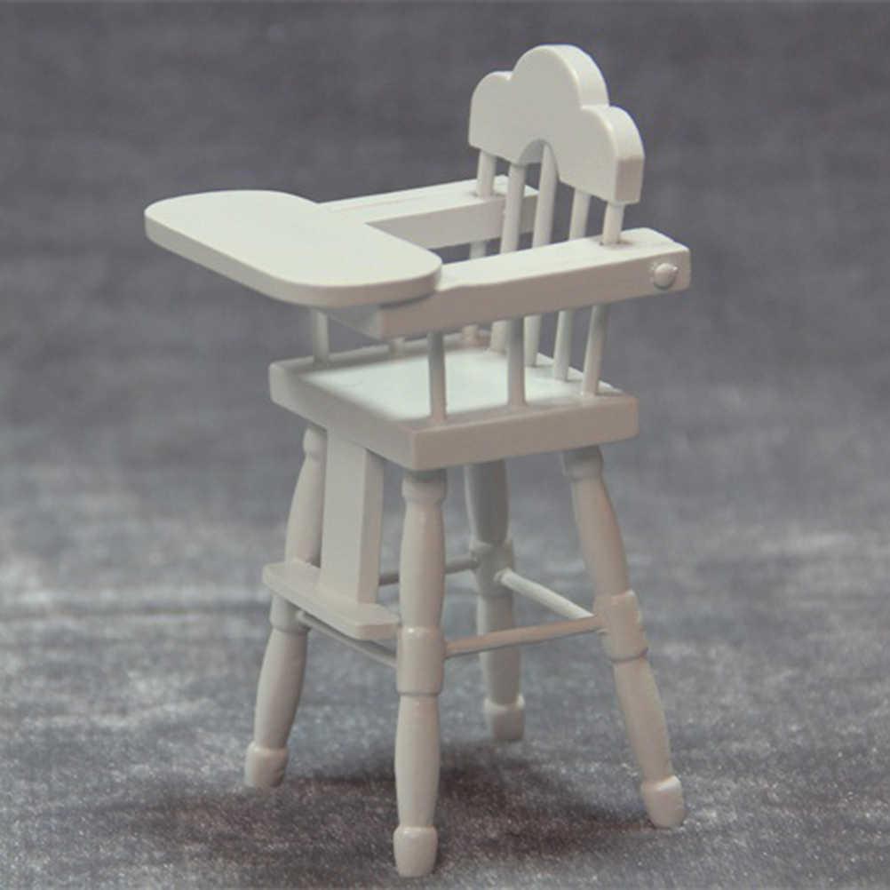 1pc ของเล่นเก้าอี้เฟอร์นิเจอร์ชุดตกแต่งปรับ Mini ตารางที่นั่งแม่พิมพ์ Highchair ของเล่นเก้าอี้ของเล่นสำหรับชาย