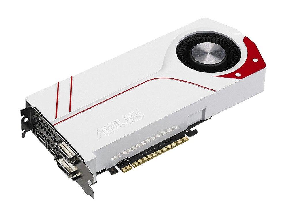 Используется, оригинальный ASUS GTX970 4 ГБ GDDR5 256BIT игра видеокарта TURBO-GTX970-OC-4GD5 ...