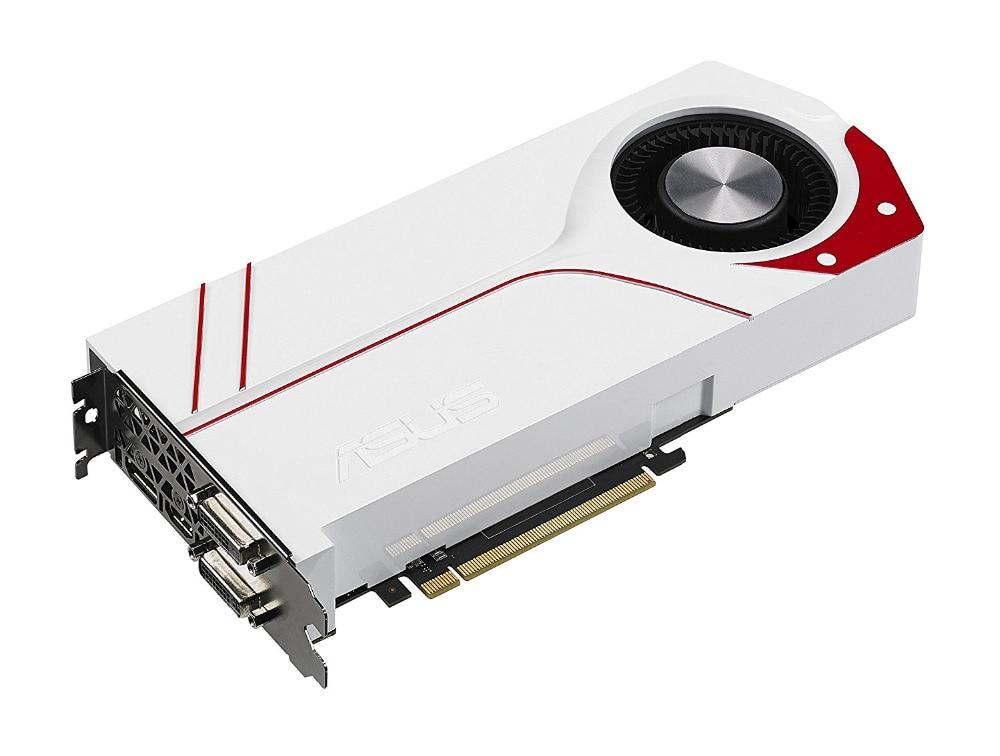 Used,original Asus GTX970 4GB GDDR5 256BIT game graphics card TURBO-GTX970-OC-4GD5 видеокарта asus strix gtx970 dc2 4gd5 gtx 970 4гб gddr5 retail