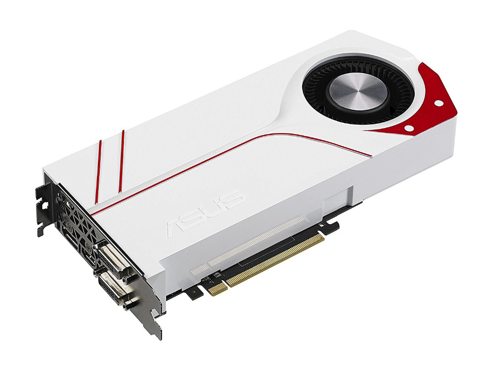 Utilisé, original Asus GTX970 4 GB GDDR5 256BIT jeu carte graphique TURBO-GTX970-OC-4GD5