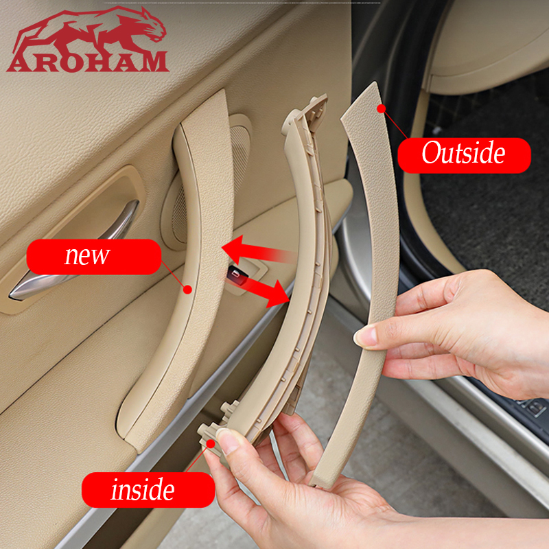 For Bmw E90 E91 E92 Door Handle For BMW 3 Series 318 320 F30 F35 Car Inner Door Panel Handle Armrest Panel Pull Trim Cover Shell