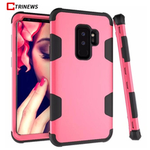 CTRINEWS Shockproof Case For Samsung Galaxy S9 S9 Plus S8 S8 Plus 360 Full Body Hybrid Armor Cover For Samsung Note 8 Phone Case