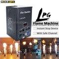 Lpg fogo máquina dmx fase chama máquinas uma cabeça spray fogo máquinas placa de exibição fogo projetor máquina palco festa mostrar