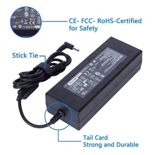 KWOKKERK 19.5 V 7.7A 150 W Replacement AC Adattatore di Caricabatteria per HP Connettore 4.5 millimetri * 3.0 millimetri