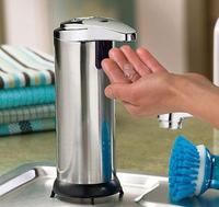 Hot Sale 1pcs Handsfree Automatic IR Sensor Stainless Steel Touchless Liquid Soap Dispenser