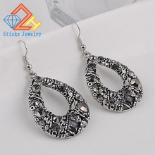 Free shipping new bohemian fashion earrings teardrop-shaped pierced retro