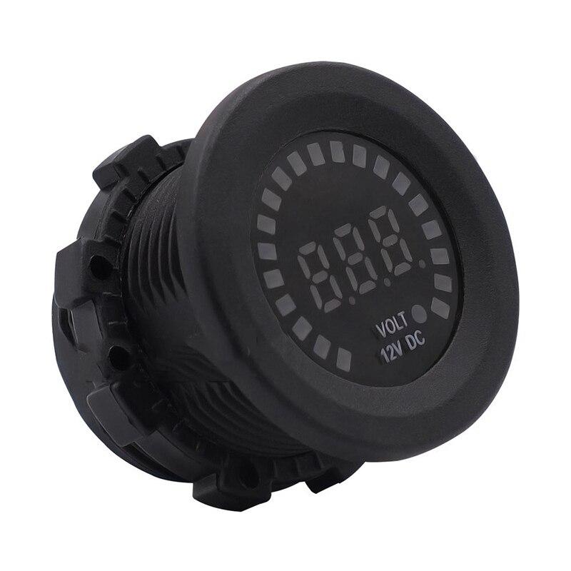 Gut Digital Led Panel Voltmeter Motorrad Universal Spannung Tester Meter Farbe Bildschirm Auto Boot Mini Volt Monitor Dc 12 V