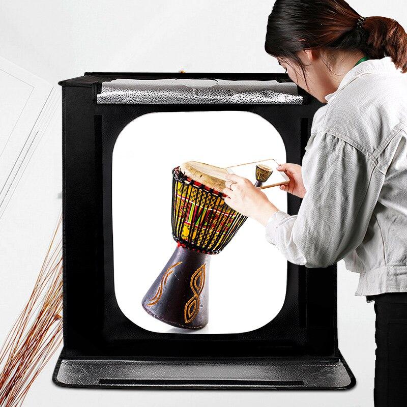 Travor складной софтбокс для фотостудии 60 см 46 Вт 3400лм с белым желтым черным фоном освещение для студийной съемки - 2