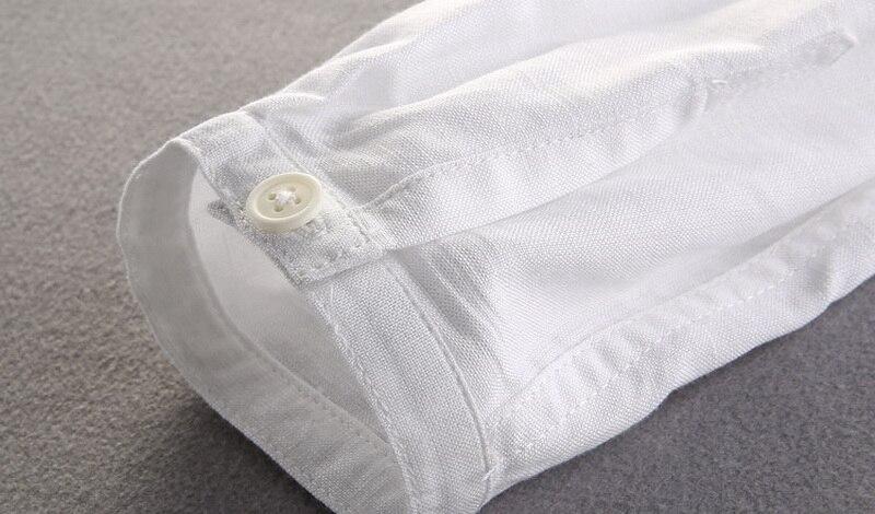 Brand Shirt Men Casual Slim Fit Designer Meeste särk Pikkade - Meeste riided - Foto 5