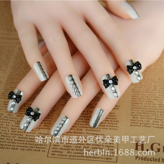 Aliexpress.com : Buy 24 bride Manicure nail patch fake nails ...